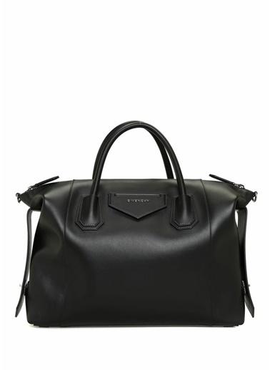 Givenchy Givenchy 101539479 Antigona Deri Askılı Kulplu Fermuar Kapatmalı Logolu Kadın Omuz Çantası Siyah